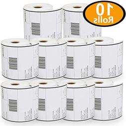 10 Rolls Dymo 1744907 Compatible 4XL Internet Postage Extra-