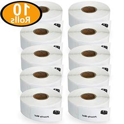 "10 Rolls DYMO 30336 Compatible 1"" x 2-1/8"" Small Multipurpos"