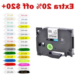 "12mm 0.47"" Tape Compatible with Brother P-Touch Label Maker"