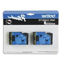 """2/Pack 1/2""""  Gold on Black P-touch TC Tape for Brother PT-20"""