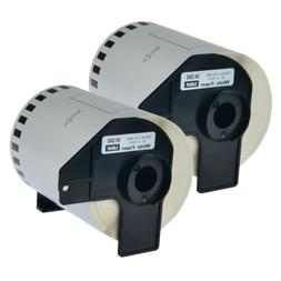 2 Roll 4 Inch White Paper Labels For Brother DK2243 DK-2243