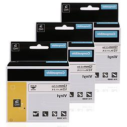 with Industrial Labels for  LabelWriter and Industrial Label Makers 1 Roll Black on White 3//4 1801611 DYMO RHINO 4200 Label Maker