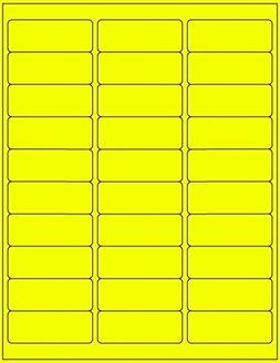 100 Sheets / 3000 Fluorescent FBA and Word Compatible Size A