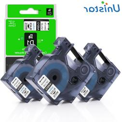 3PK 12mm Cassette Compatible for DYMO 45013 Tape for D1 Labe