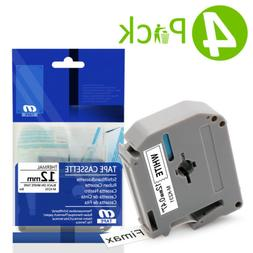 4 Compatible Brother M231 M-K231 MK231 Label Tape for P-touc