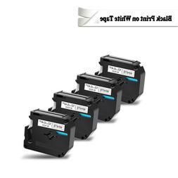 4 pack for Brother P-touch PT80 PT70 Black on White Label Ta