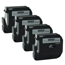 4PK Compatible Brother P-touch M-K231 MK-231 Black on White