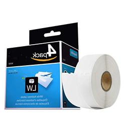 4 Rolls Compatible DYMO 30252 LabelWriter LW Adhesive White