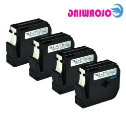 4PK M-K231 Brother P-touch label maker tape 12mm Black on Wh