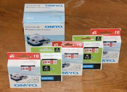 """5 Pack DYMO D1 Red / White 12 x 7 mm 1/2"""" x 23' Label Casset"""