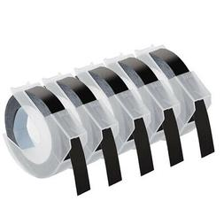 """5-pack Replacement for Dymo 3D Plastic Embossing Tape 3/8"""" f"""
