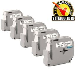 5PK MK-231 M-K231 Label Tape For Brother P-Touch Label Maker