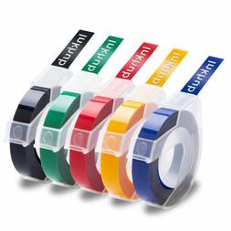 5x Multicolor Label Maker Compatible for Dymo Embossing Tape