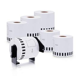MarkDomain 6 Rolls Compatible with Brother DK-2205 White Con
