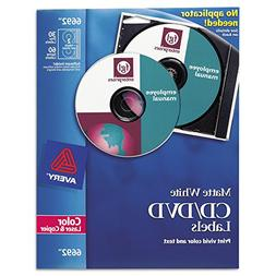 Avery 6692 CD/DVD Labels for Color Lasers, 30 Disc Labels &