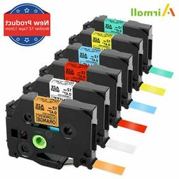 6PK Label Tape 12mm Replace Brother P-Touch TZ TZe-231 431 B