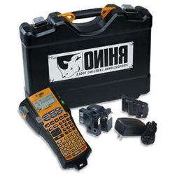 DYMO 1756589 Rhino 5200 Industrial Label Maker Kit, 5 Lines,
