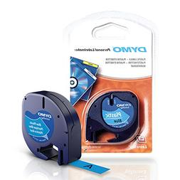 DYMO Ultra Blue Plastic Tape w Black Printing, LetraTag only