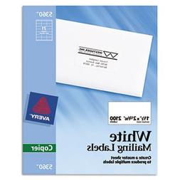 """""""Self-Adhesive Address Labels for Copiers, 1-1/2 x 2-13/16,"""
