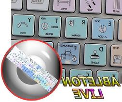 STICKERS FOR KEYBOARD ABLETON LIVE GALAXY SERIES WORK WITH A