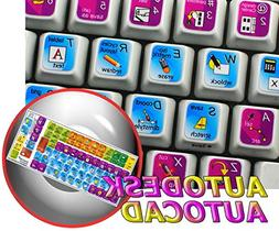 NEW AUTODESK AUTOCAD STICKERS FOR KEYBOARD