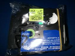 Black Print on White Laminated Tape for P-touch Label Maker,