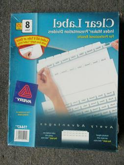 Brand New Avery Dennison 11447 Index Maker Clear Label Divid