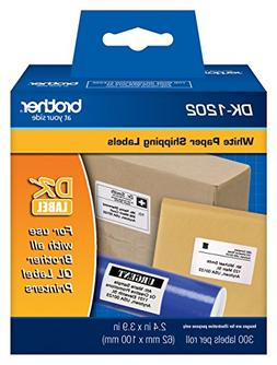 Brother DK1202 Standard Shipping Labels, 300 Labels Per Roll