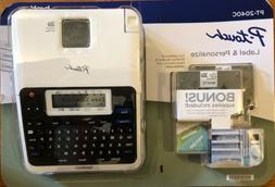 Brother P-Touch Label Maker PT-2040C with 2 Laminated TZe Ta