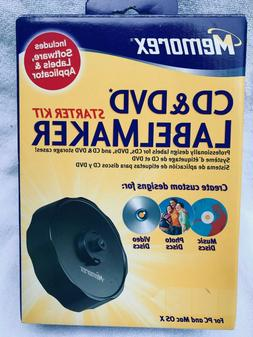 Memorex CD & DVD Label Maker Starter Kit in Box for PC and M