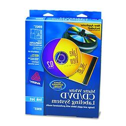 Avery CD/DVD Design Kit with 40 Matte Labels & 10 Inserts fo