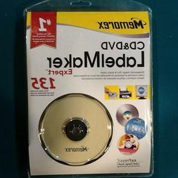 MEMOREX CD DVD LABEL MAKER EXPERT WITH 135 LABELS NEW