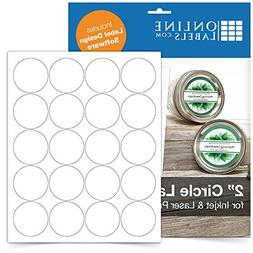 "2"" Round Labels - Pack of 2,000 Circle Stickers, 100 Sheets"