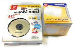 Memorex Clear Slim Jewel Case 30 Pk And CD & DVD Label Maker