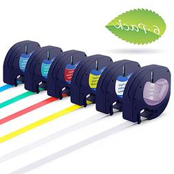 Compatible Dymo LetraTag Refills Plastic Labeling Tape 12mm,