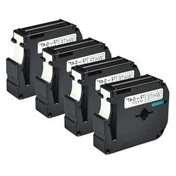 GREENCYCLE 4 PK Compatible for Brother P-touch Labels M-K231