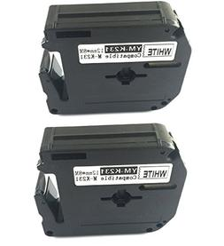 2x compatible for Brother P-touch M Tape Label M-K231 MK231