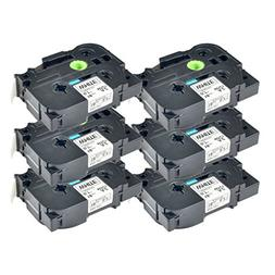 NineLeaf 6 Pack Compatible for Brother P-touch Label Maker T