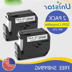 5PK Compatible for Brother P-touch Labels M-K231 MK231 Black