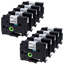 Label KINGDOM 10 Pack Compatible Brother P-touch TZ231 TZe23