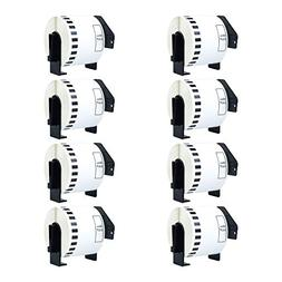 Nineleaf Compatible Continuous White Paper Label Roll Cut-to