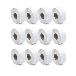 Compatible Dymo 30336 Barcode Labels, 12 Rolls 25mm x 54mm
