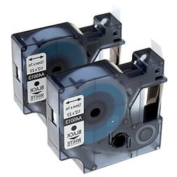 Anycolor 2-Pack Compatible DYMO D1 Label Tape 45013 S0720530