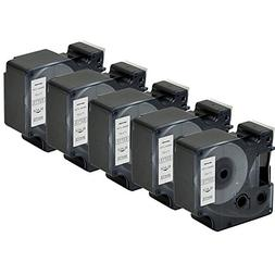 Compatible DYMO D1 Label Tape 53713 Black on White Labeling