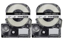 2PK Onirii Compatible Epson Labelworks Label Tape Cartridge