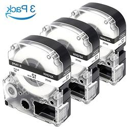 3-Pack Compatible Epson LabelWorks LC-4WBN9 LK-4WBN Label Ma