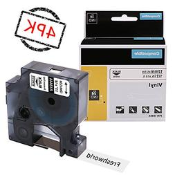 Replace Industrial Dymo Rhino 18444 Permanent Vinyl Labels T