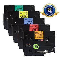 NEOUZA 5PK Compatible For Brother P-Touch Laminated Tze TZ L