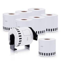 DK-2205 8 Rolls Brother-Compatible White Continuous Paper La
