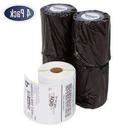 """Dymo 1744907 Compatible Shipping Labels - 4"""" x 6"""" Thermal Po"""